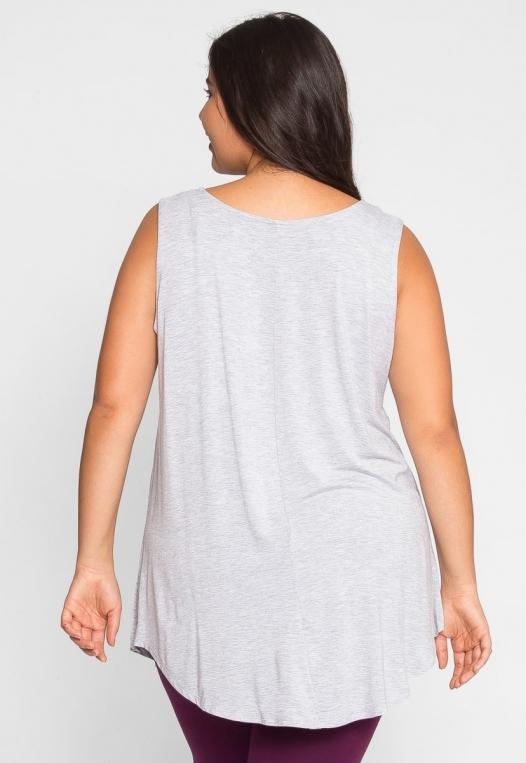 Plus Size Gilroy Sleeveless Top in Gray alternate img #3