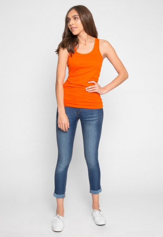 Retrograde Tank Top in Orange alternate img #4