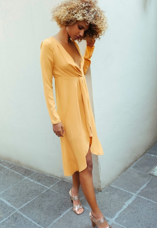 Surprise Front Twist Midi Dress alternate img #1