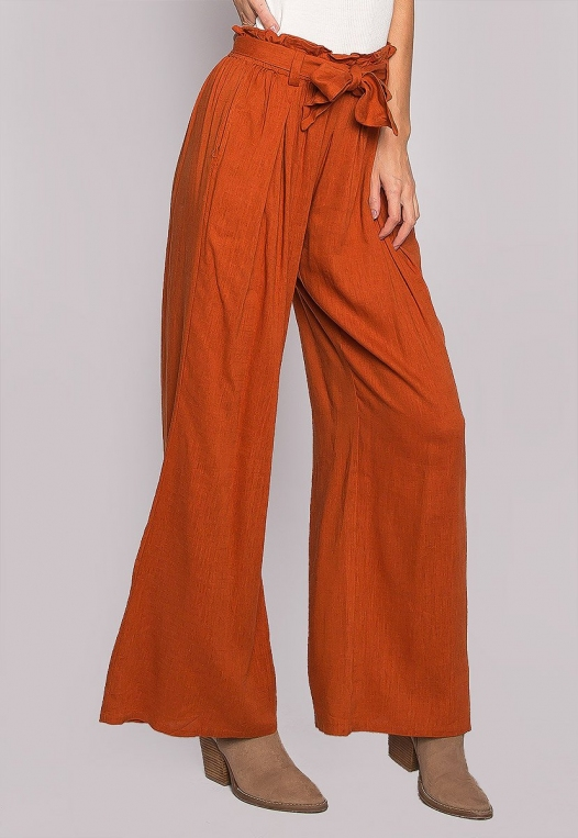 P.S. I Love You Paper Bag Wide Leg Pants alternate img #3