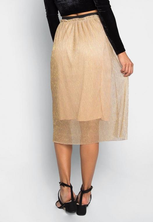 Treasure Metallic Midi Skirt alternate img #2
