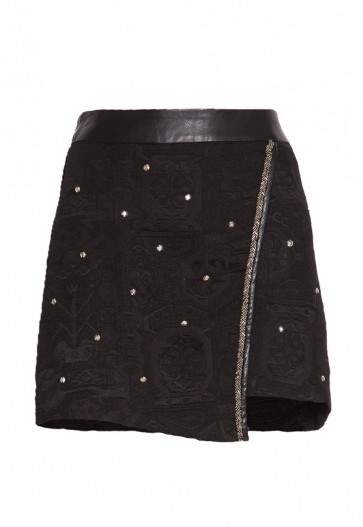 Star Studded Textured Mini Skirt alternate img #8