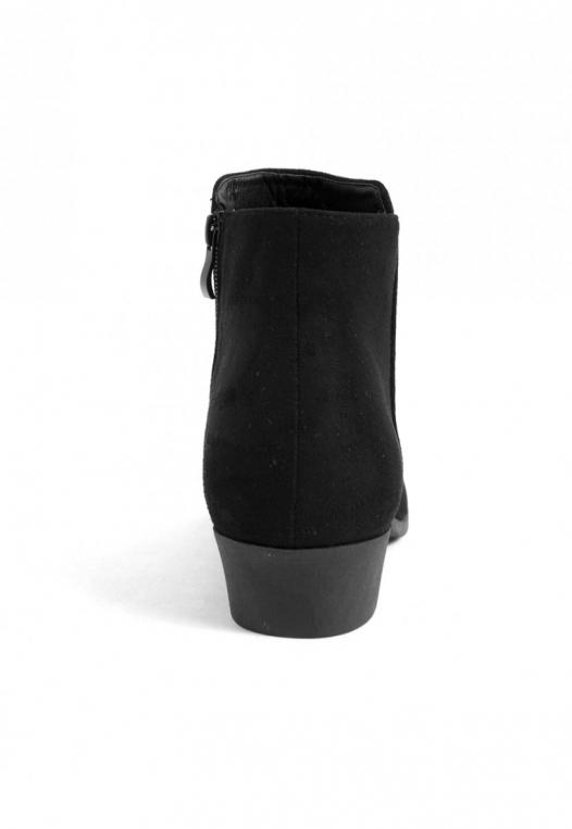 Black Star Ankle Booties in Black alternate img #2