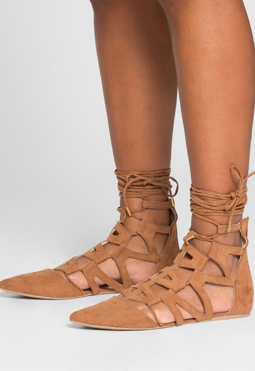 Wheat Cut Out Ballerina Flats alternate img #3