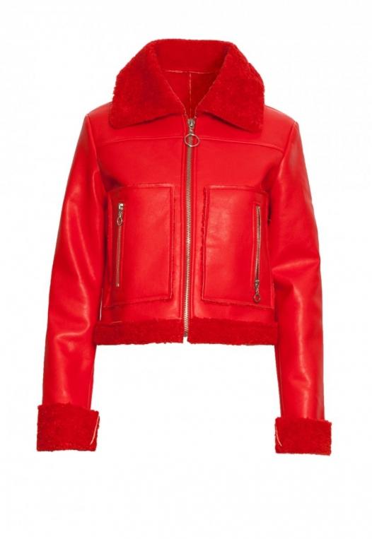 All Stars Luxe Bomber Jacket in Red alternate img #8