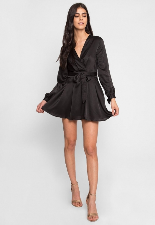 Clean Slate Satin Fit and Flare Dress alternate img #4