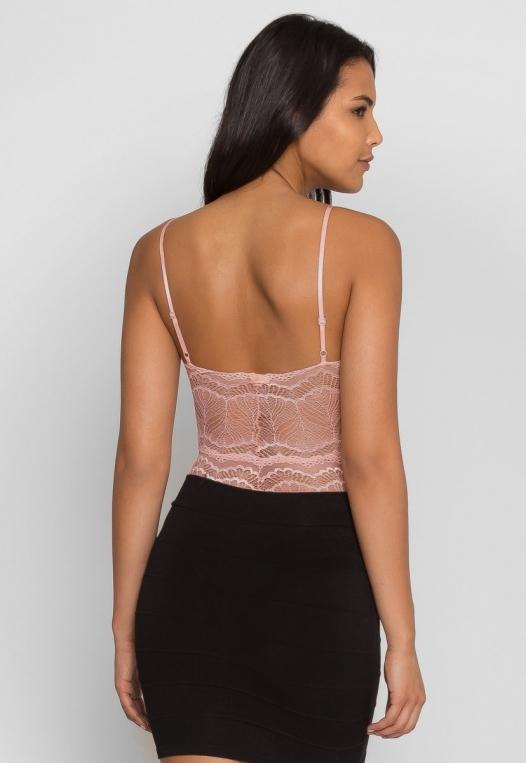 Harlow Lace Bodysuit in Blush alternate img #4
