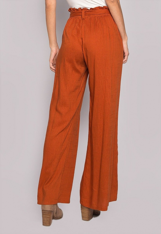 P.S. I Love You Paper Bag Wide Leg Pants alternate img #2