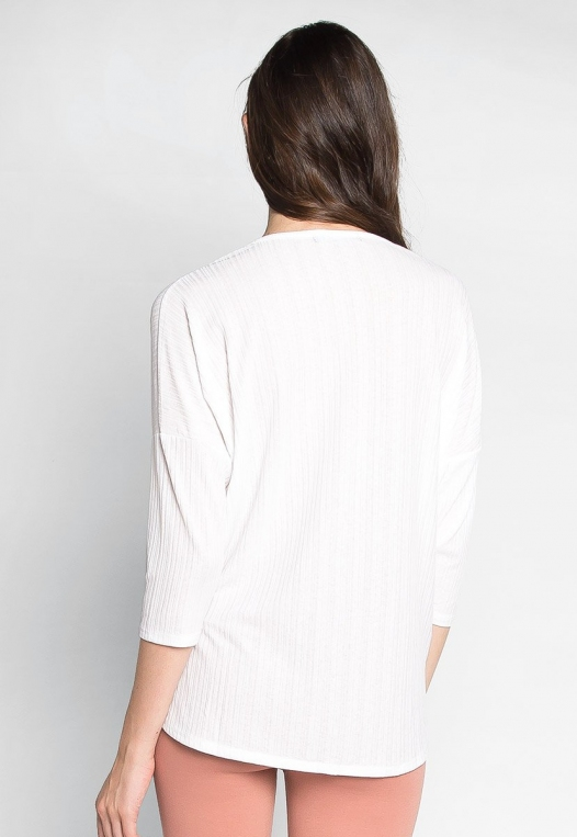 Always Fun Knot Front Blouse in White alternate img #2