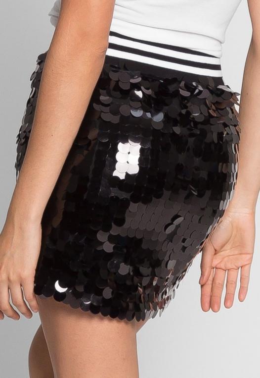 Cheers Sequin Mini Skirt alternate img #4
