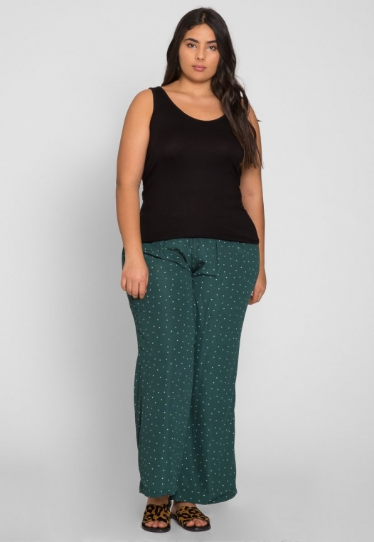 Plus Size Rachel Relaxed Tank Top in Black alternate img #4