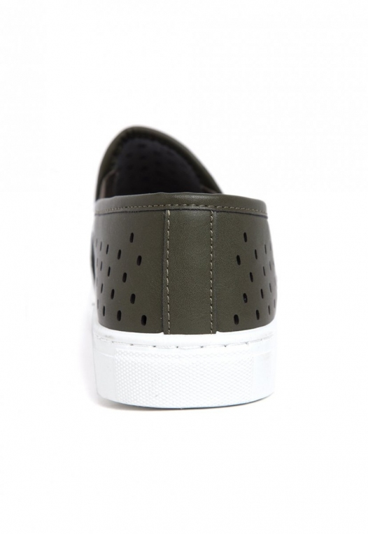 Ace Laser Cut Sneakers in Olive alternate img #2