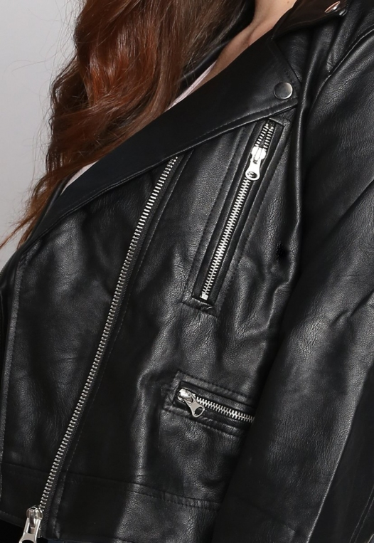Plus Size Rockstar Leather Jacket alternate img #6