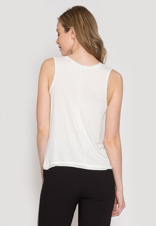 Summer Lush Tank Top in White alternate img #3