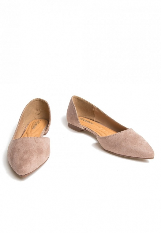 Vivian Pointed Flats in Taupe alternate img #6
