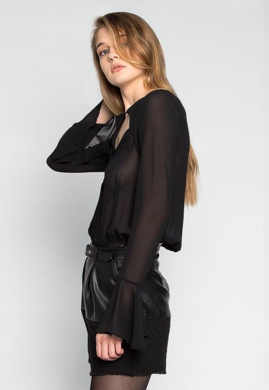 Claire Bell Cuffs Chiffon Bodysuit alternate img #3
