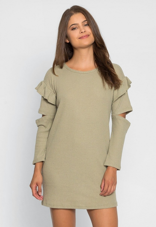 Milkshake Knit Dress in Sage alternate img #3