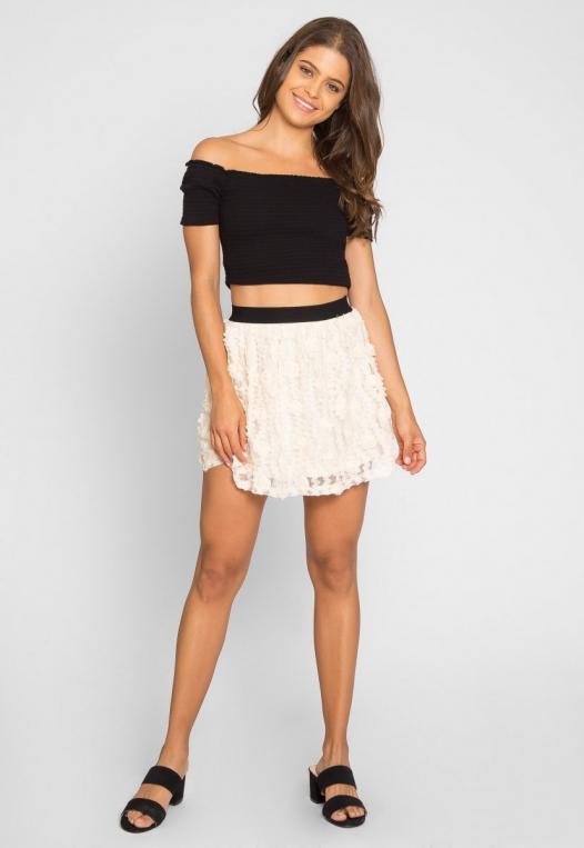 Clover Textured Mini Skirt alternate img #6