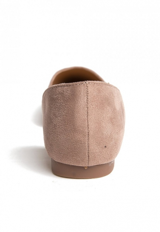 Vivian Pointed Flats in Taupe alternate img #2