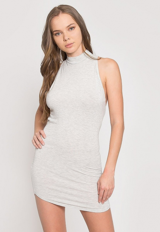 The Original Mock Neck Halter Knit Dress alternate img #1