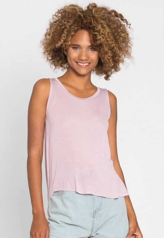 Soft Knit Tank Top in Light Lavender alternate img #2