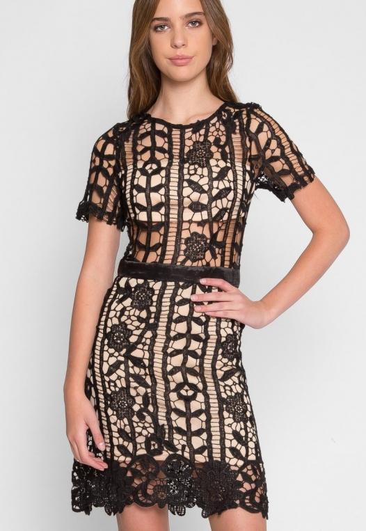 See Through Crochet Dress alternate img #1