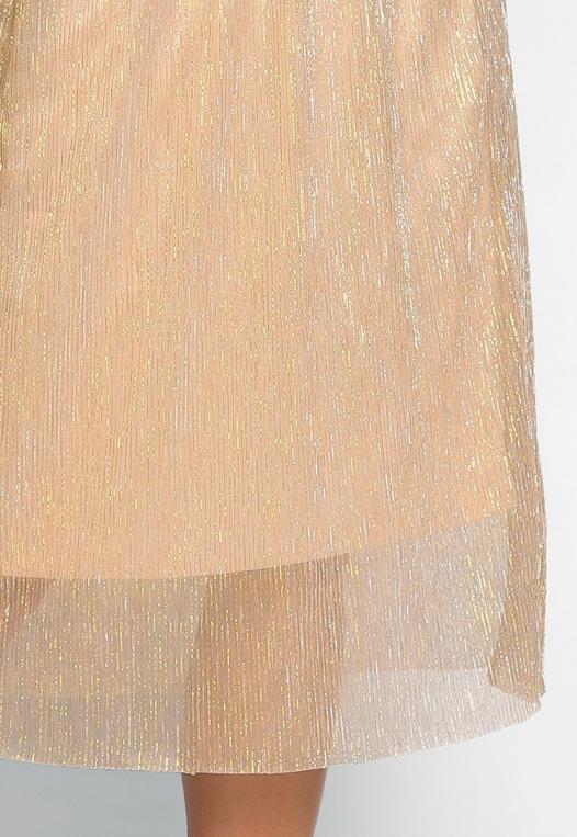Treasure Metallic Midi Skirt alternate img #6