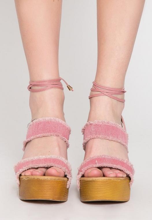 Palos Verdes Platform Heels in Blush alternate img #2