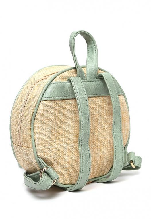 All Smiles Sunny Straw Mini Backpack alternate img #4