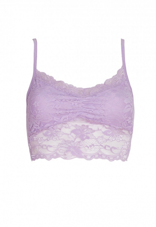 Aroma Light Lace Bralette in Lavender alternate img #7