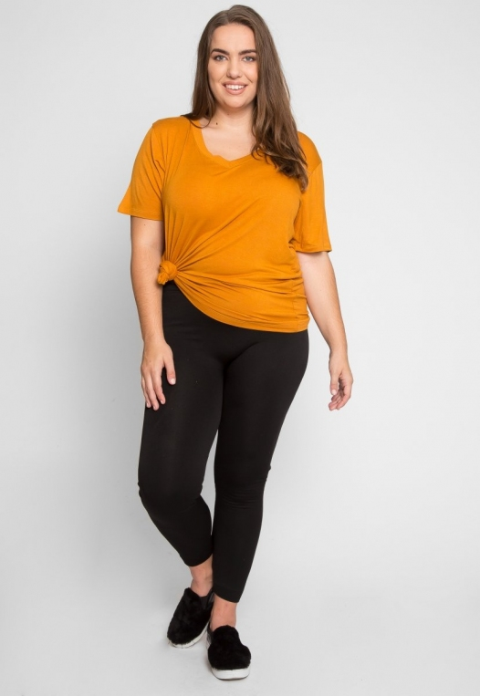 Plus Size Greatest Boxy Tee in Orange alternate img #4