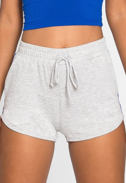 Hills Side Tape Knit Shorts in Gray alternate img #4
