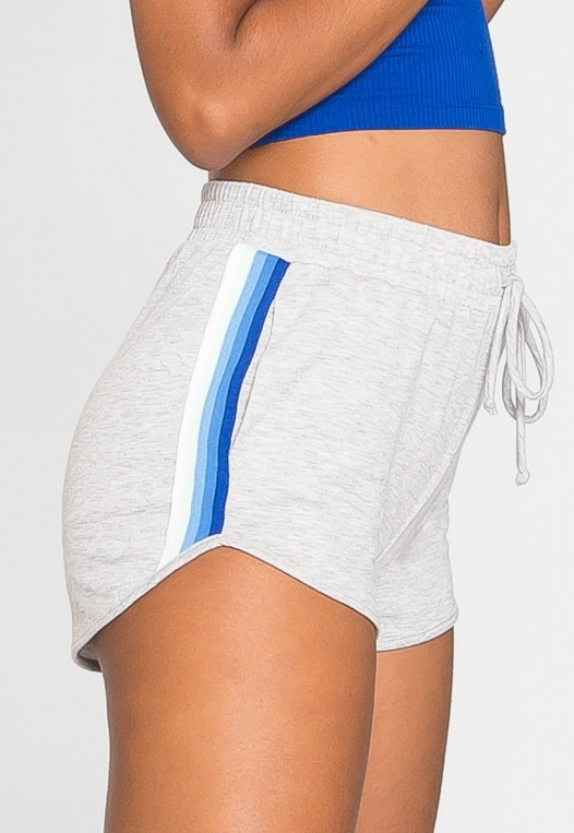 Hills Side Tape Knit Shorts in Gray alternate img #5