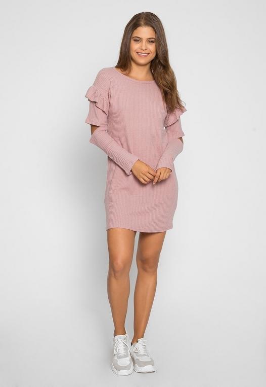 Milkshake Knit Dress in Light Pink alternate img #4