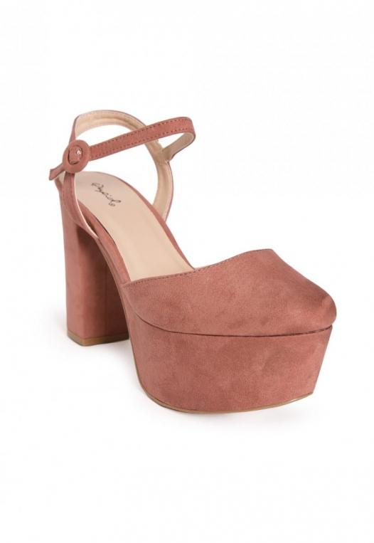 Abbott Ankle Strap Platform Heels in Light Pink alternate img #4