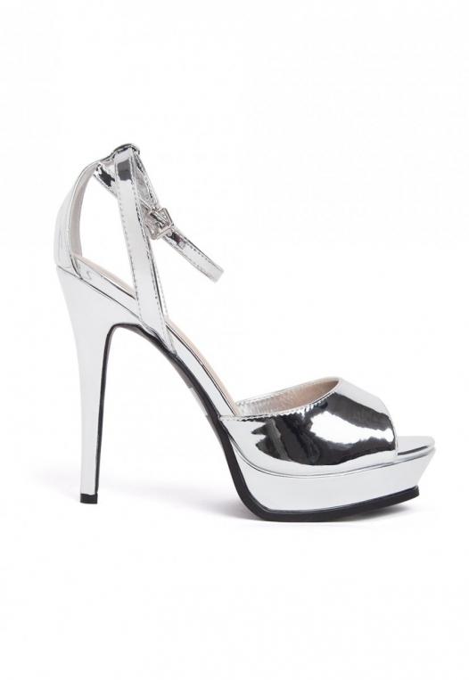 Granted Metallic Ankle Strap Heels alternate img #1