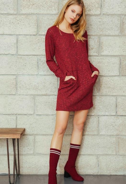 Daisy Textured Knit Dress alternate img #1