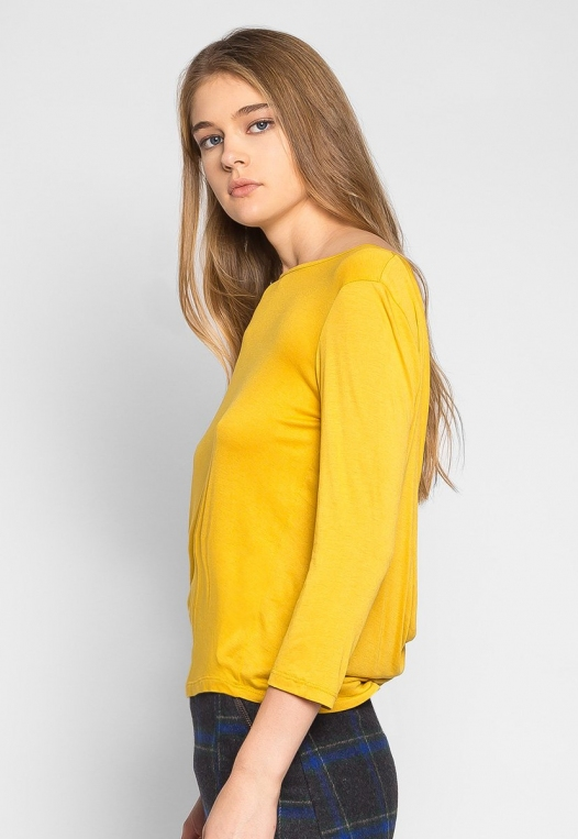 Popsicle Open Back Knit Top in Yellow alternate img #3