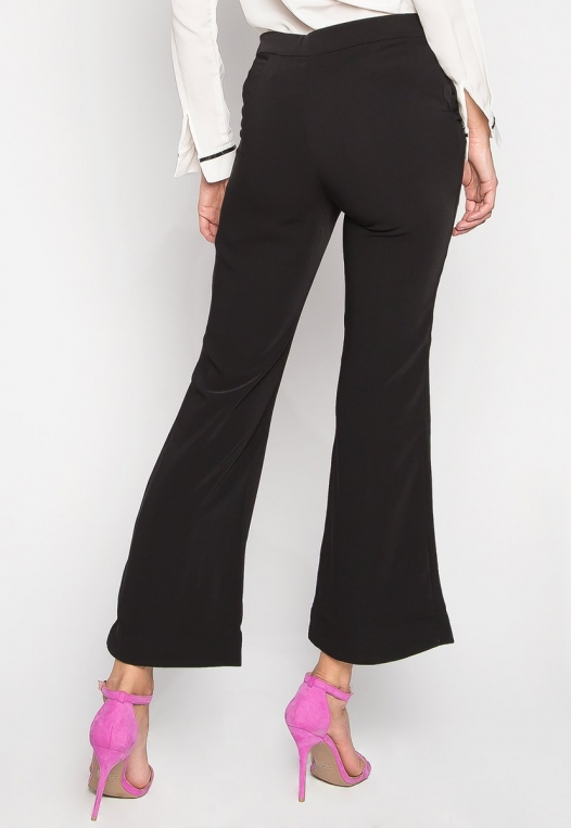 Busines Only Flared Pants In Black alternate img #3