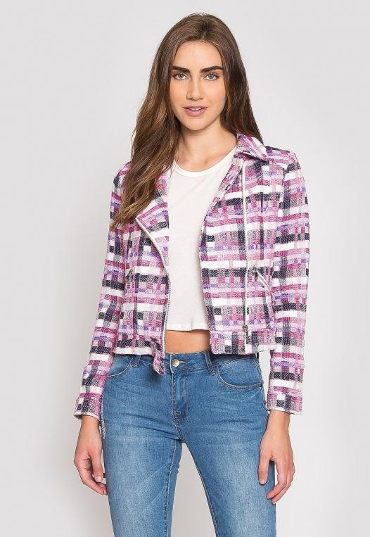 Ellen Plaid Moto Jacket alternate img #1