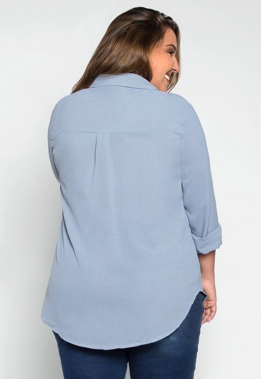 Plus Size Erin Flap Pockets Shirt alternate img #2