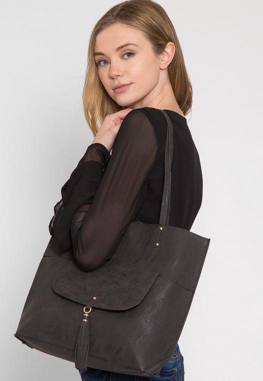 Paisley Perforated Tote Handbag alternate img #3