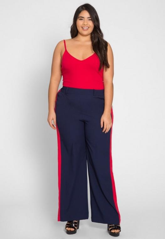 Plus Size Essentials Bodysuit in Red alternate img #4