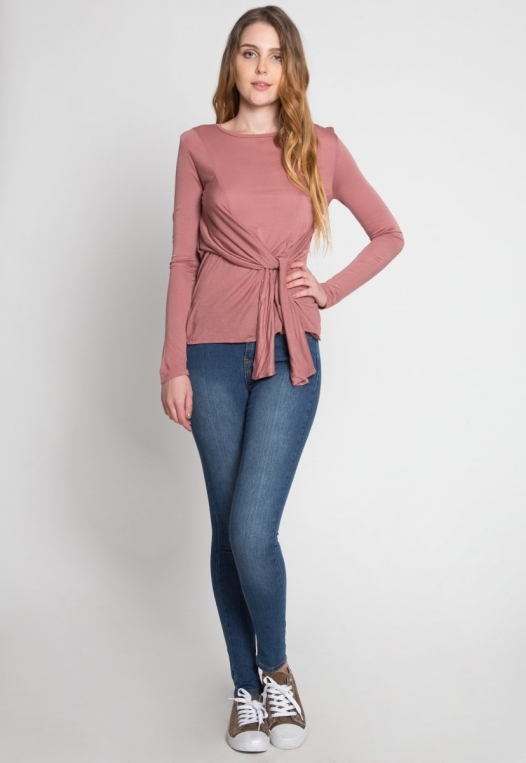 Monday Morning Jersey Knit Top in Mauve alternate img #5