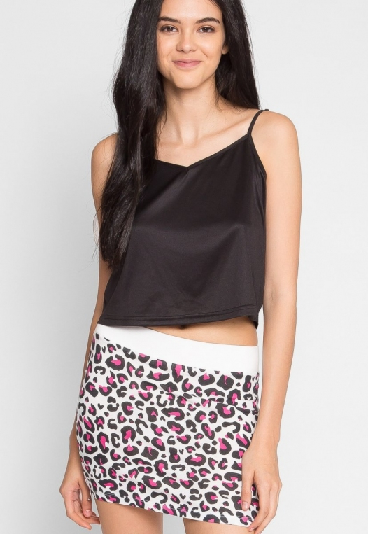 Psychedelic Leopard Knit Skirt alternate img #1