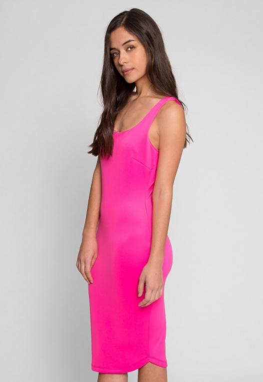 Newport Bodycon Dress in Pink alternate img #3