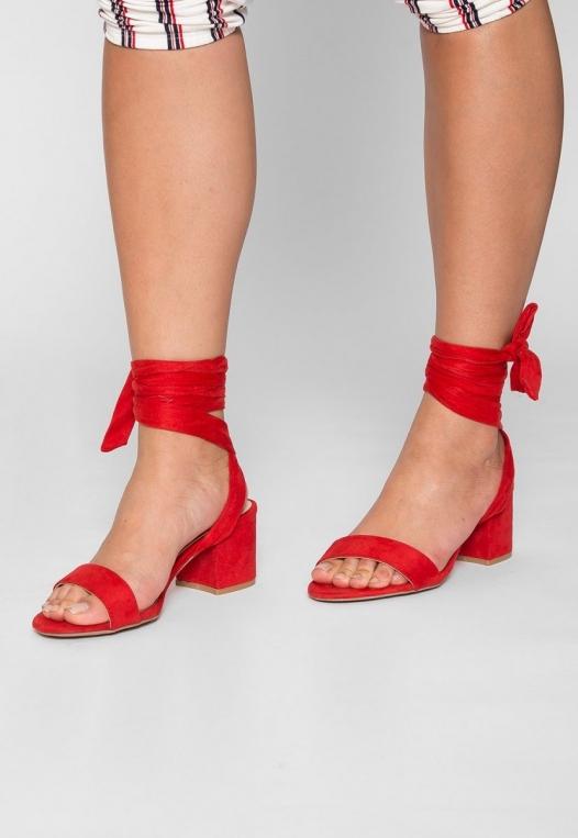 Kitty Ballerina Sandal Heels in Red alternate img #1