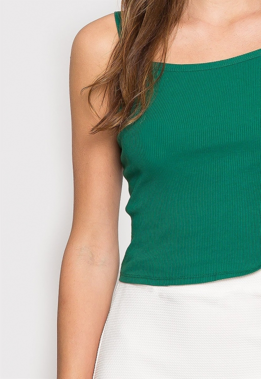 Dreams Crop Tank Top in Green alternate img #6