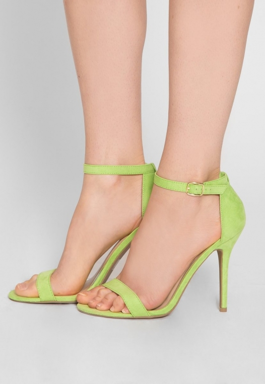 Nature Ankle Strap Heels in Lime alternate img #1