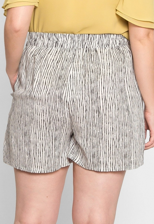 Plus Size High Waist Stripe Shorts alternate img #2